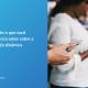 À esquerda, uma tela azul escrito tudo o que você precisa saber sobre a tarifa dinâmica. À direita, duas pessoas seguram um celular.