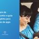 À esquerda, uma tela azul com os dizeres cupom de desconto: o guia completo para donos de apps. À direita, moça com celular na mão.