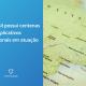 Tela azul à esquerda com os dizeres: Brasil possui centenas de aplicativos regionais em atuação. À direita o mapa do Brasil.