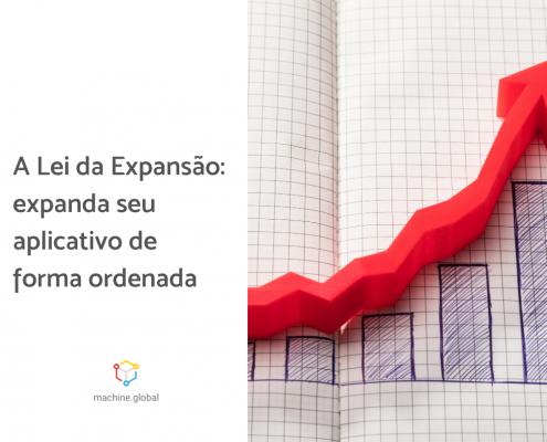 Foto de um gráfico crescente, ao lado está escrito: a lei da diferenciação: expanda seu aplicativo de forma ordenada