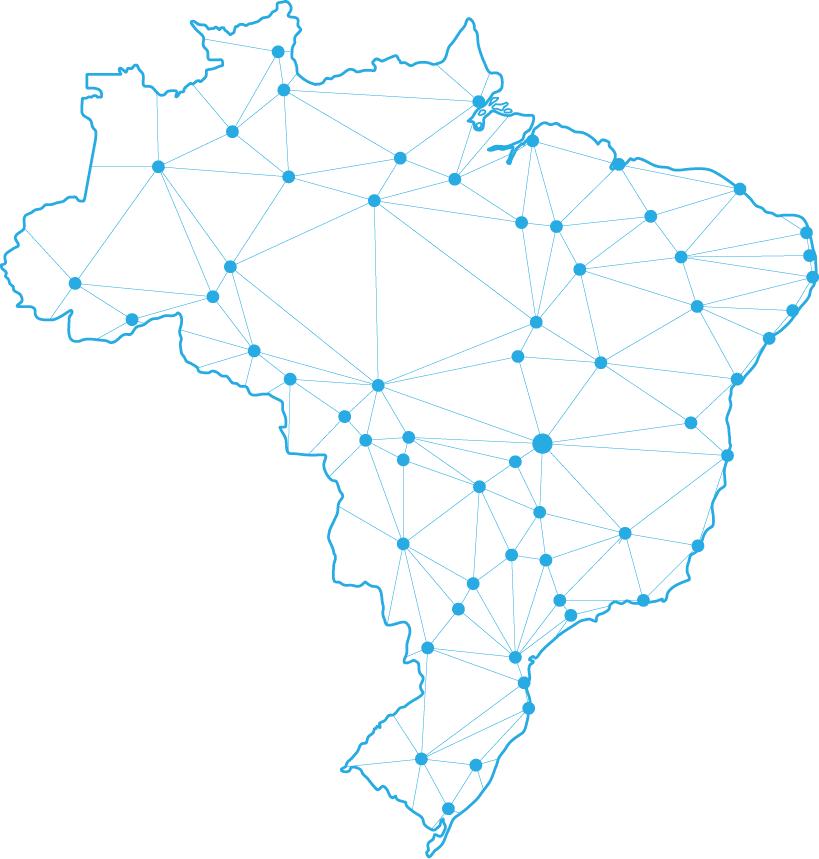 Mapa do Brasil conectado