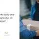 Pessoa entregando uma caixa e ao lado está escrito: quanto custa criar um aplicativo de entregas?