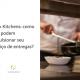Homem cozinhando, aparace apenas suas mãos segurando uma frigideira. Ao lado está escrito: dark kitchens: como elas podem impulsionar seu serviço de entregas