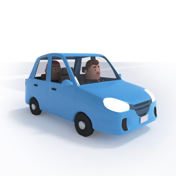 Carro particular com passageiro