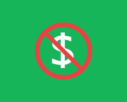 fundo verde com $ bloqueado