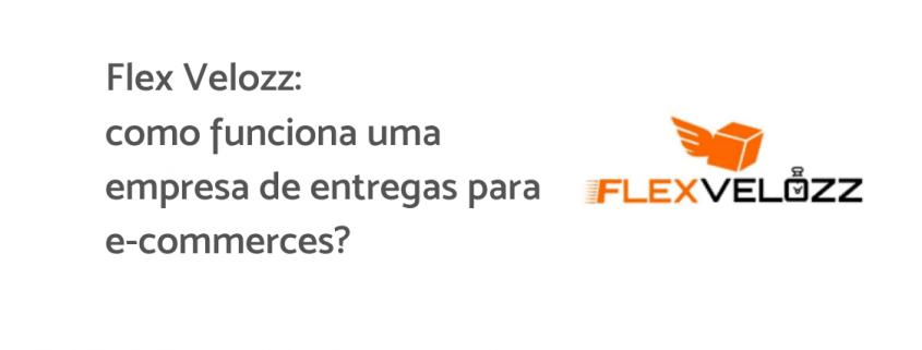 """Logo da Flex Velozz, uma caixa laranja com asas. Ao lado está escrito """""""