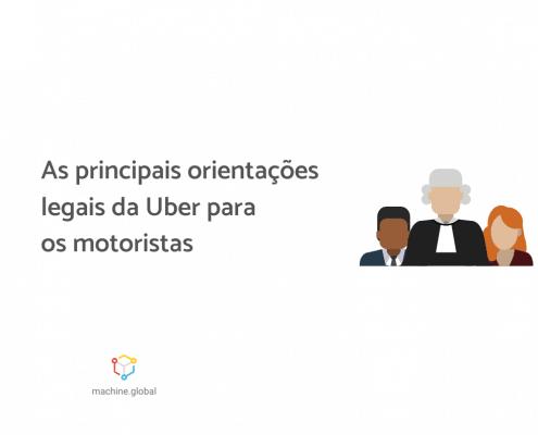 """Ilustração de três pessoas vestidas com roupas formais. Ao lado está escrito """"As principais orientações legais da Uber para os motoristas""""."""