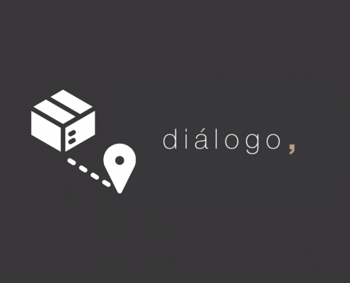 caixa e ícone de localização