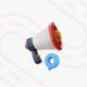 fundo branco com uma ilustração de uma pista e por cima um megafone com ícone de localização