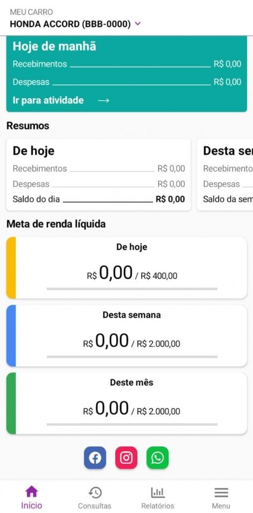 Print do aplicativo For Driver