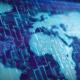 foto do mapa mundi com códigos de tecnologia