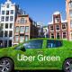 Veículo da Uber Green